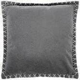 Gray Velvet Whipstitch Pillow
