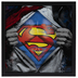 Superman Chest Framed Wood Wall Decor