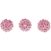 Pink AB Cluster Beads - 14mm