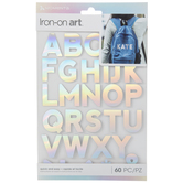 Silver Holographic Alphabet Iron-On Appliques