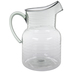 Green Ridged Glass Look Pitcher