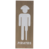 Pirates Bathroom Sign Wood Wall Decor