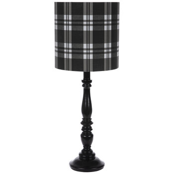 Black & White Plaid Lamp