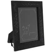 "Black Basket Weave Wood Frame - 5"" x 7"""