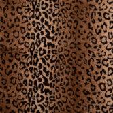 Leopard Print Faux Fur Fabric