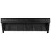 Black Wood Wall Shelf With Hooks