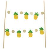 Gold Foil Pineapple Cake Banner