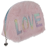 Love Faux Fur Cosmetic Bag