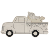 Vintage Truck With Dog Wood Wall Decor