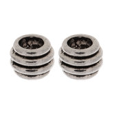 Ribbed Spacer Beads
