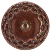 Brown Embossed Round Knob