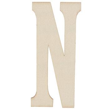 "Vintage Sign Wood Letters N - 4"""