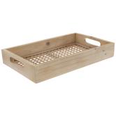 Woven Bottom Wood Tray