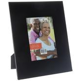 "Black Glass Frame With Beveled Edge - 5"" x 7"""