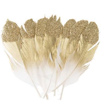 Glitter Feather Embellishments