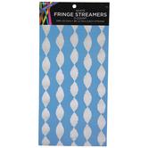 White Fringe Streamers