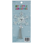 Iridescent Snowflake Mini Tree Topper