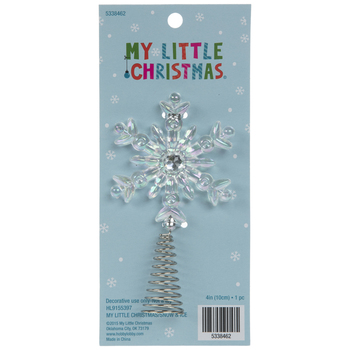 Iridescent Snowflake Mini Tree Topper