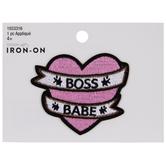 Boss Babe Heart Iron-On Applique