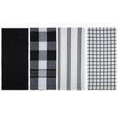 White & Black Patterned Kitchen Towels