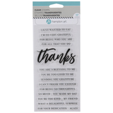 Thanks Sentiments Clear Stamps