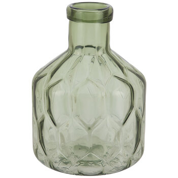 Green Glass Jug Vase