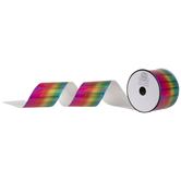 Rainbow Iridescent Foil Ribbon - 2 1/2""