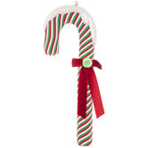 Frosted Striped Candy Cane Decor