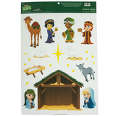 Nativity Scene Window Clings