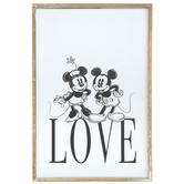 Mickey & Minnie Love Wood Wall Decor