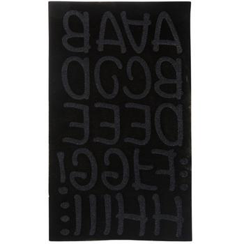 Friendly Flocked Iron-On Applique Alphabet