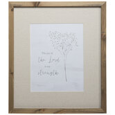 Joy Of The Lord Framed Wood Wall Decor
