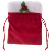 Red Velvet Santa Pouch
