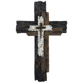 Metal Wall Cross Black and Bronze Crosses