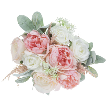 Soft Pink Rose & Peony Bouquet