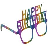 Rainbow Foil Happy Birthday Glasses