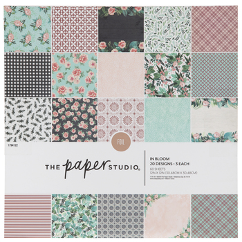 """In Bloom Foiled Paper Pack - 12"""" x 12"""""""