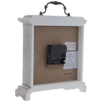 Whitewash Beveled Wood Clock
