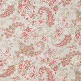 Rose Paisley Cotton Calico Fabric