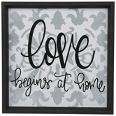 Love Begins At Home Wood Wall Decor