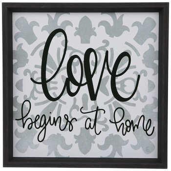 Love Begins At Home Wood Wall Decor