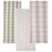 Pink, Green & White Plaid Kitchen Towels