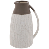 White & Brown Speckled Pitcher