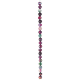 Purple & Green Dyed Agate Round Bead Strand