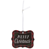 Red & Black Buffalo Check Quatrefoil Gift Tags