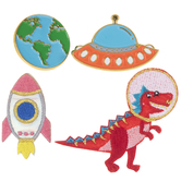 Space Iron-On Appliques & Pins