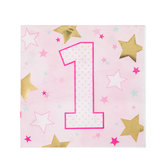 Pink Twinkle Twinkle Starry Napkins - Small