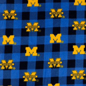 Michigan Allover Collegiate Fleece Fabric