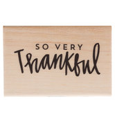 So Very Thankful Rubber Stamp
