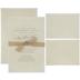 Burlap Ribbon & Lace Vellum Wedding Invitations